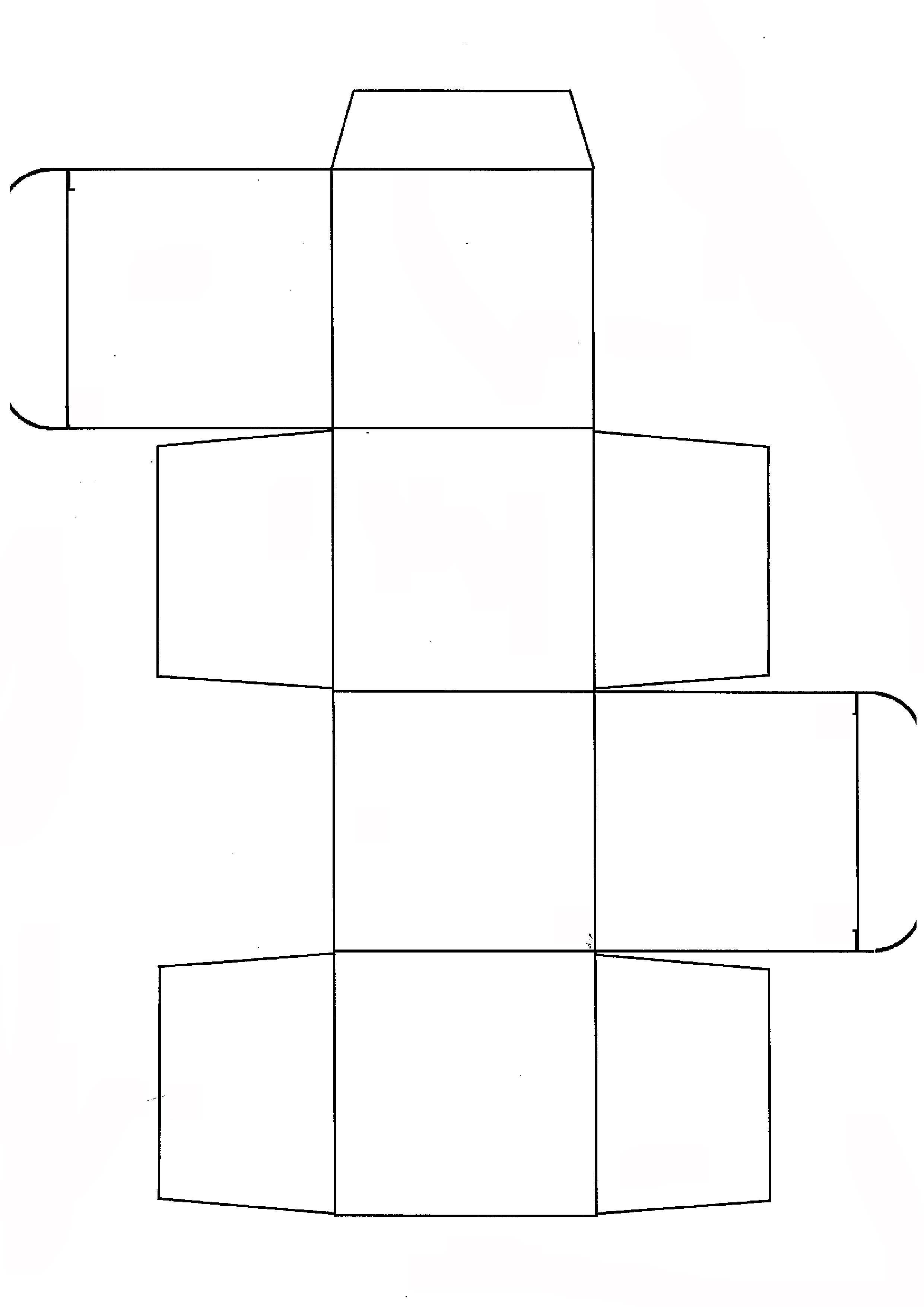 Как сделать объёмный куб из бумаги схема с размерами