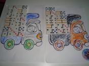 "Игра ""Грузовички"" с использованием домино"