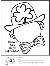 Drawing a leprechaun's face