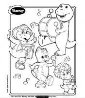 "Раскраска ""Barney and Friends"""