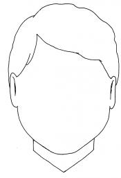 Boy's blank face