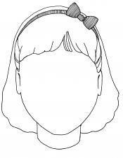 Girl's blank face
